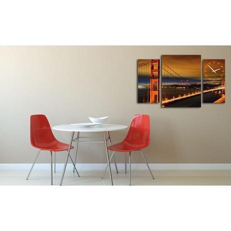 3-dielný obraz s hodnami, Golden Gate, 95x60cm,