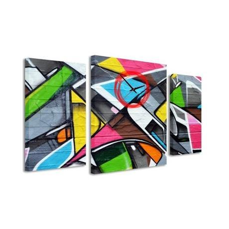 3-dielný obraz s hodnami, Graffiti, 95x60cm,