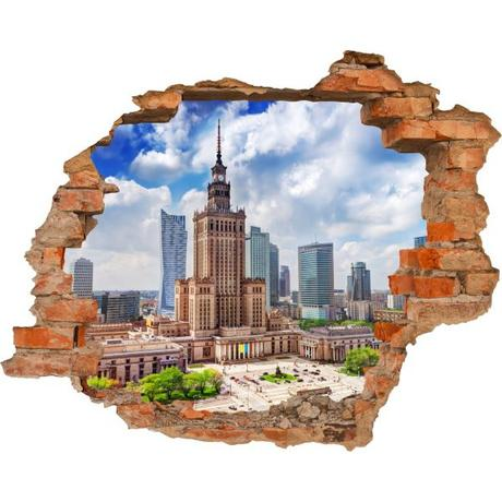 3D fototapeta, Varšava, 125 x100cm,