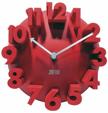 3D hodiny z plastu 22cm,