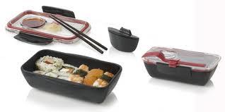 Bento Box na jedlo malý červeno-čierny,