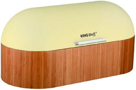 Chlebník Kinghoff design, béžový, 39cm,