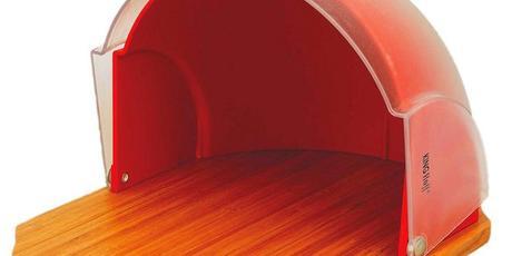Chlebník Kinghoff design, KH212, červený,
