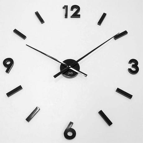 Čierne nalepovacie hodiny Antracit,