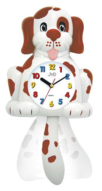 Detské nástenné hodiny Pes 61.1-2 48cm,