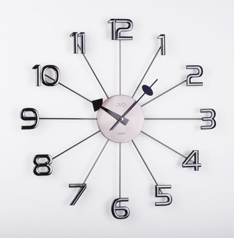 Dizajnové nástenné hodiny JVD HT072.1 antracit 49c,