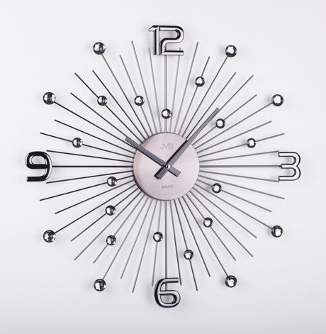 Dizajnové nástenné hodiny JVD HT074.2 antracit, 49,