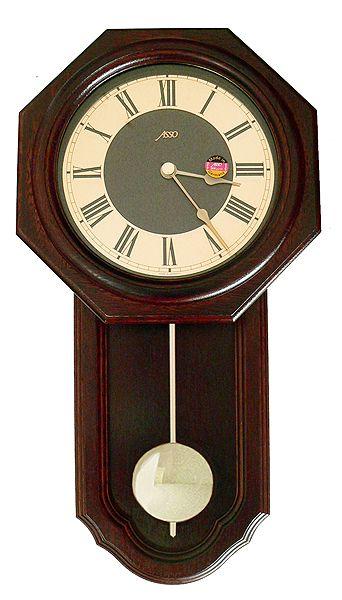 Drevené nástenné hodiny ASSO A17/195/3, 51cm ,