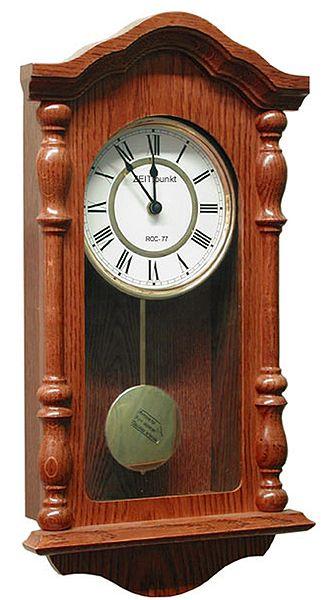 Drevené nástenné hodiny ASSO A19/175/2, 46cm,