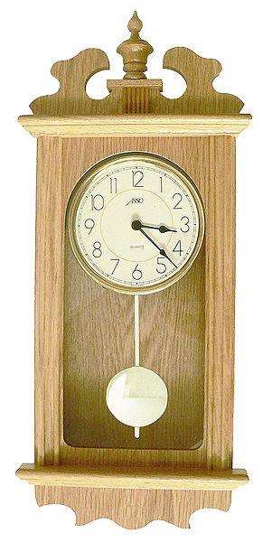 Drevené nástenné hodiny ASSO A19/2909/6, 55cm,