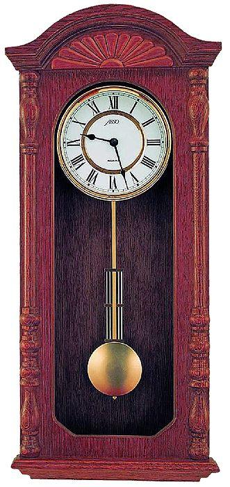 Drevené nástenné hodiny ASSO A19/327/7, 55cm,