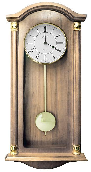 Drevené nástenné hodiny ASSO A19/346/11, 59cm,