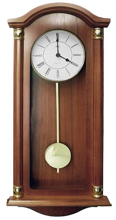 Drevené nástenné hodiny ASSO A19/346/4, 59cm,