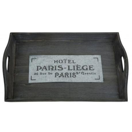 """Drevený podnos """"Hotel Paris-Liege"""" 47cm,"""