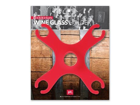 Držiak na vínové poháre Spider červený,