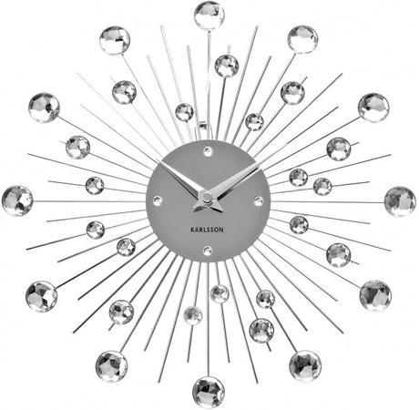 Elegantné kryštálové hodiny Karlsson 30cm,