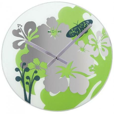 Elegantné nástenné hodiny vyrobené zo skla(zrkadlo,