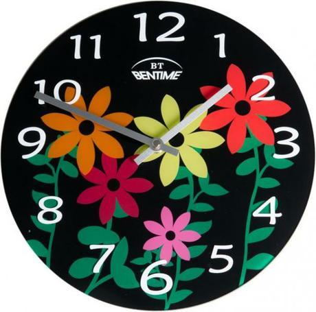Elegantné nástenné okrúhle hodiny značky Bentime. ,
