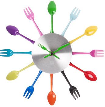 Farebné kuchynské hodiny 25 cm,