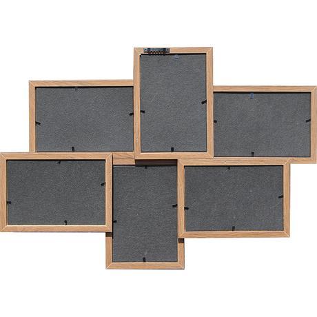 Hnedý multirám na 6 fotiek, LB 50x35cm,