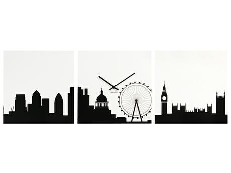 Hodiny ako obraz LONDÝN 35x35cm,