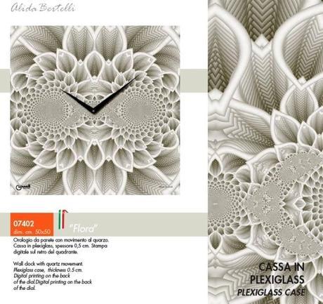 Hodiny Lowell 07402 Flora Design 50cm,