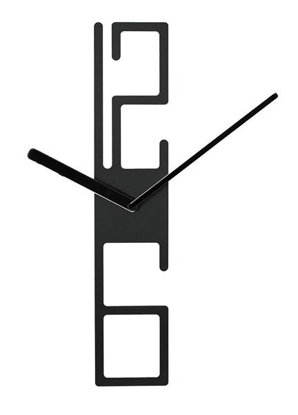 Hodiny na stenu Karlsson 4930 čierne 50cm,