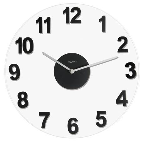 hodiny Nextime WOODY BLACK 39cm,