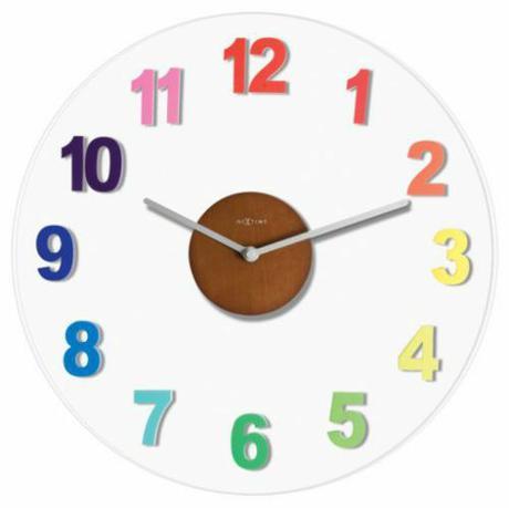 hodiny Nextime WOODY COLOR 39cm,