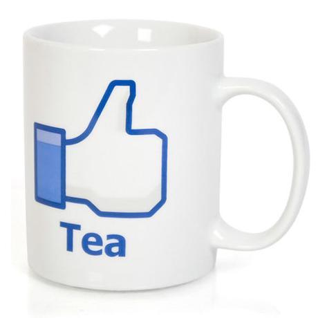 Hrnček facebook - čaj,