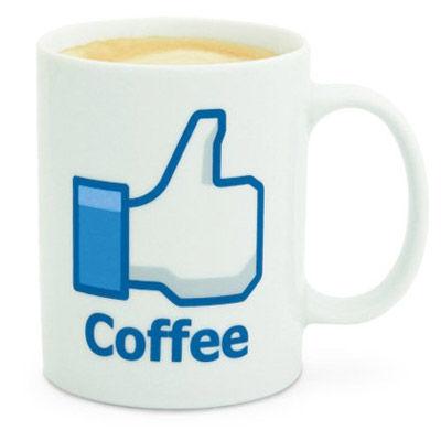 Hrnček facebook - káva,