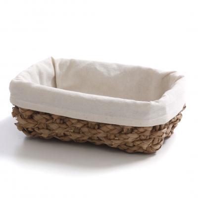 Košík na pečivo RUSH prútený biely,