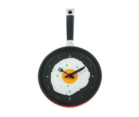 Kuchynské hodiny panvica, RED, 35cm,