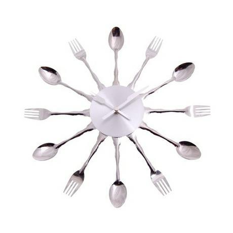 Kuchynské nástenné hodiny s motívom príboru 33 cm,