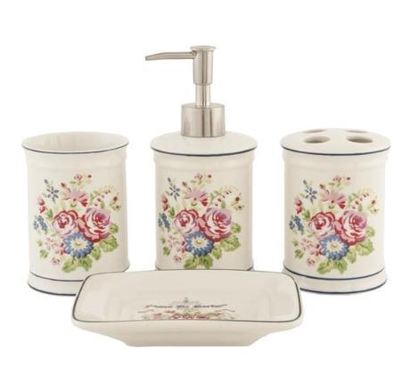 Kúpeľňová sada kvety II. ,
