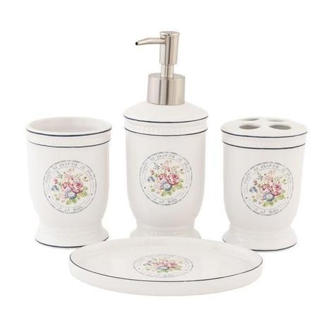 Kúpeľňová sada Kvety Kúpeľňová súprava s motívom ,