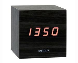 LED Budík Karlsson KA5073Black 9cm,