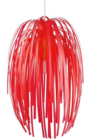 Luster Silly červený, 61cm,