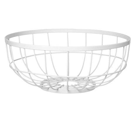 Misa na ovocie Fruit basket open grid, biela 28cm,