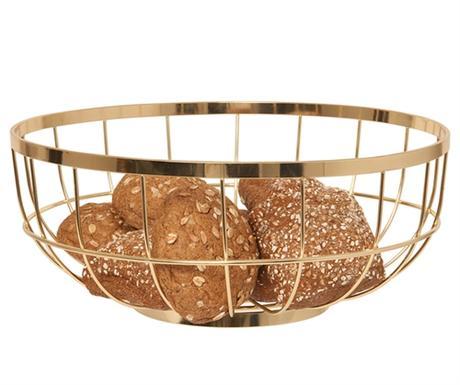 Misa na ovocie Fruit basket open grid, zlatá,