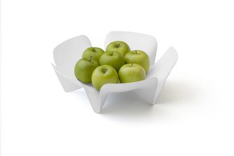 Misa na ovocie Qualy Flower Fruit Tray, malá, biel,