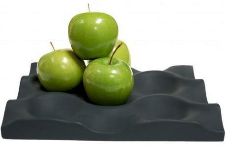 Misa na ovocie Silicone Crate čierna/ biela,
