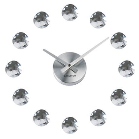 Moderné nalepovacie hodiny Diamant Karlsson,