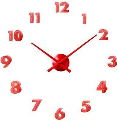 Nalepovacie hodiny 24524 Balvi červene 40CM,
