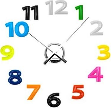 Nalepovacie hodiny na stenu Diy Numbers,