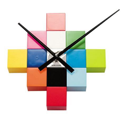 Nalepovacie nástenné hodiny 4306 Multicolor,