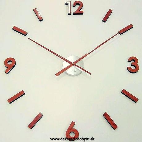 Nalepovacie nástenné hodiny 53.6 drevo 70-100cm,