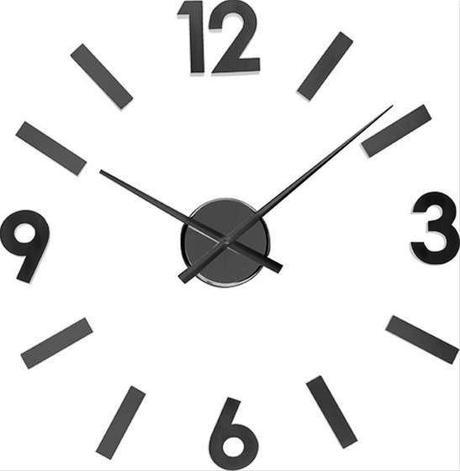 Nalepovacie nástenné hodiny Balvi Numbers 60 cm,