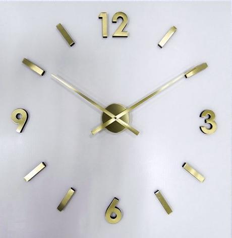 Nalepovacie nástenné hodiny JVD HW53.7, zlaté,