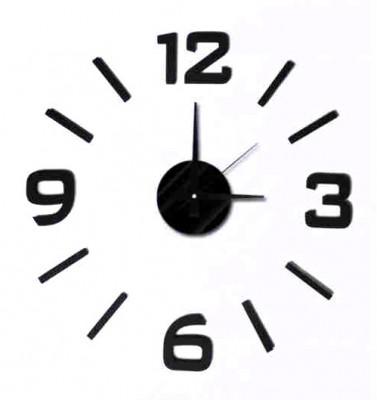 Nalepovacie nástenné hodiny, MPM 3508/3-12bk, 50cm,